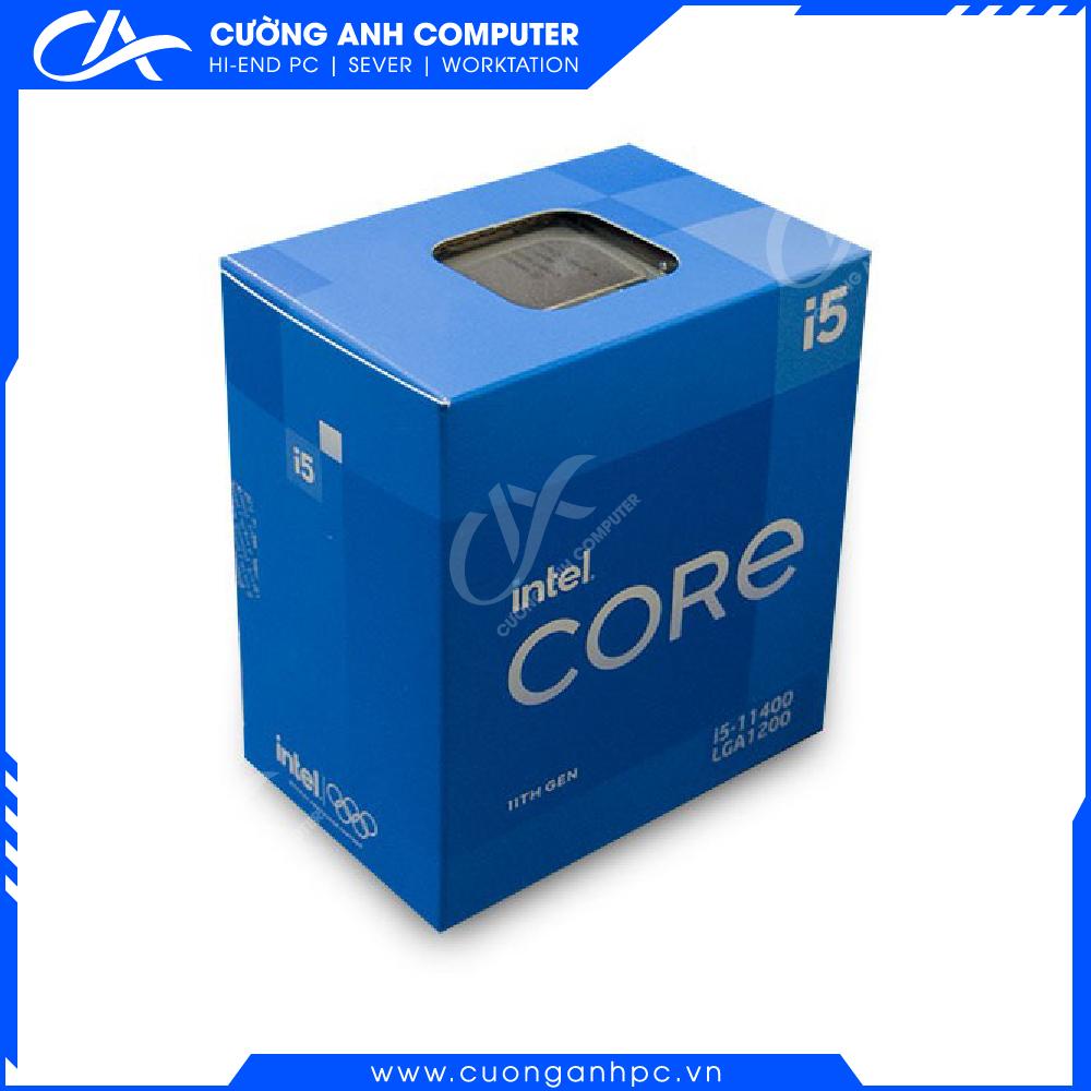 CPU Intel Core i5-11400 (2.60GHz Turbo Up To 4.40GHz, 6 Nhân 12 Luồng,12MB Cache, Rocket Lake)