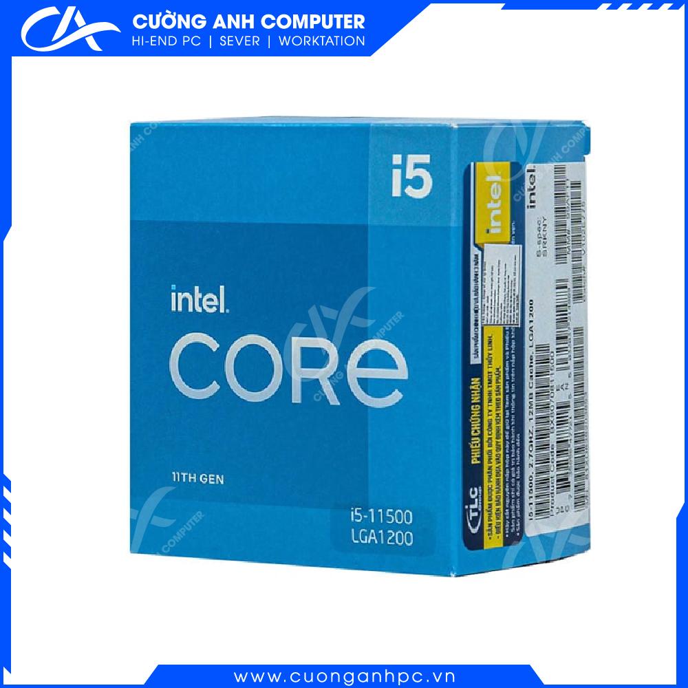 CPU Intel Core i5-11500 (3.00GHz Turbo Up To 4.30GHz, 6 Nhân 12 Luồng,12MB Cache, Rocket Lake)