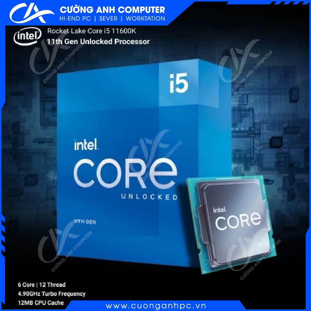 CPU Intel Core i5-11600K (3.9GHz Turbo 4.9GHz, 6 nhân 12 luồng, 12MB Cache, 125W, Rocket Lake)