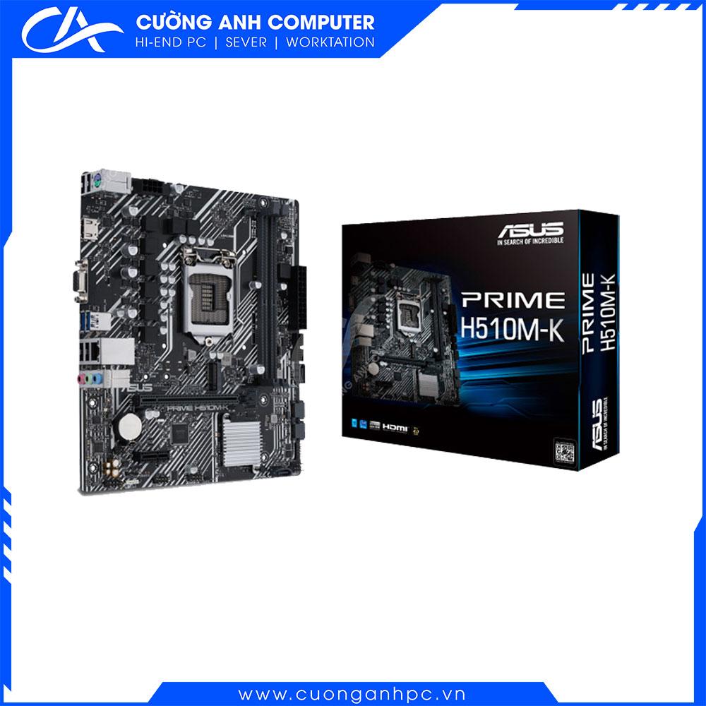 Mainboard ASUS PRIME H510M-K (Intel H510, Socket 1200, m-ATX, 2 khe Ram DDR4)