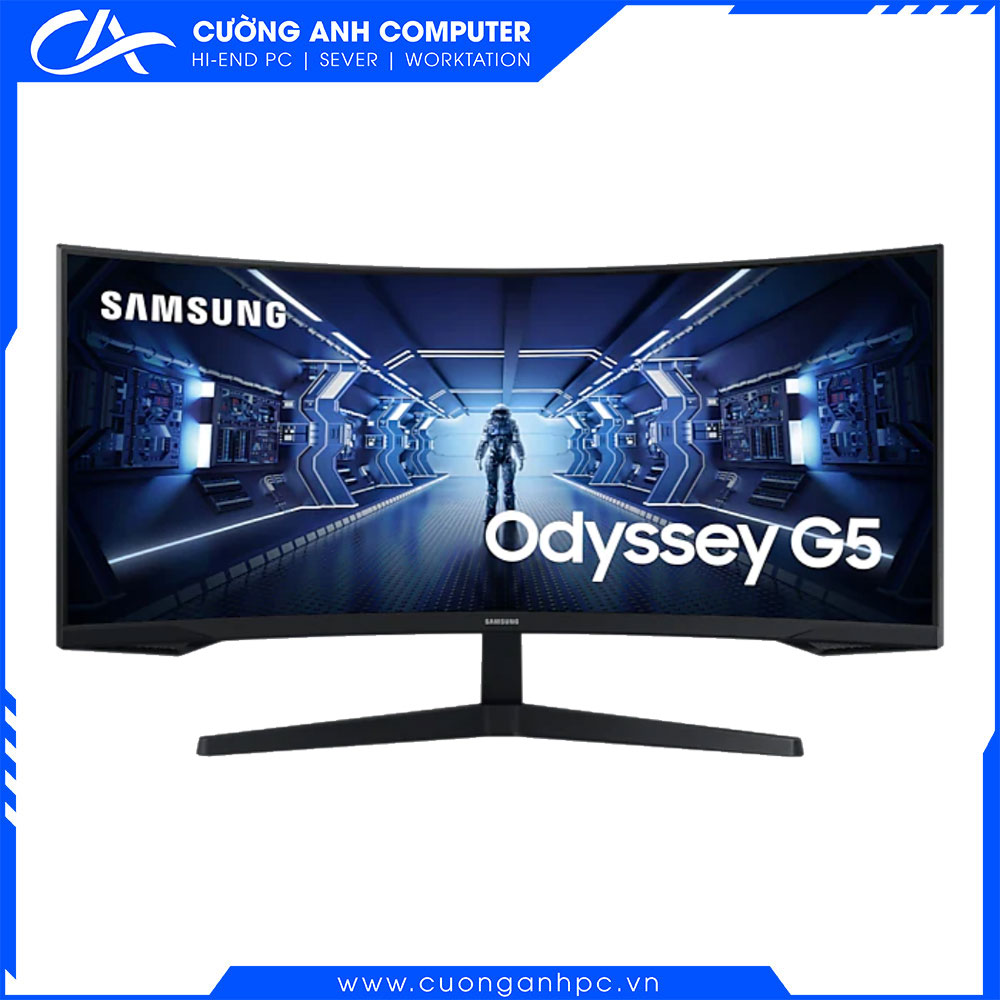 Màn hình Samsung cong LC34G55TWWEXXV 34inch/WQHD/VA/165Hz/1ms/250nits/HDMI+DP+Audio/FreeSync