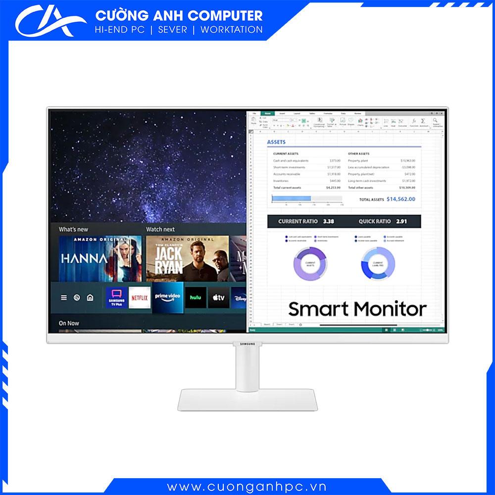 Màn hình Samsung thông minh M5 LS27AM501NEXXV (27inch/FHD/VA/60Hz/8ms/250nits/HDMI/Tivi+Remote/Trắng)