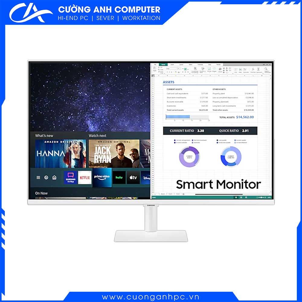 Màn hình Samsung thông minh M5 LS32AM501NEXXV 32inch/FHD/VA/60Hz/8ms/250nits/HDMI/Remote/Trắng