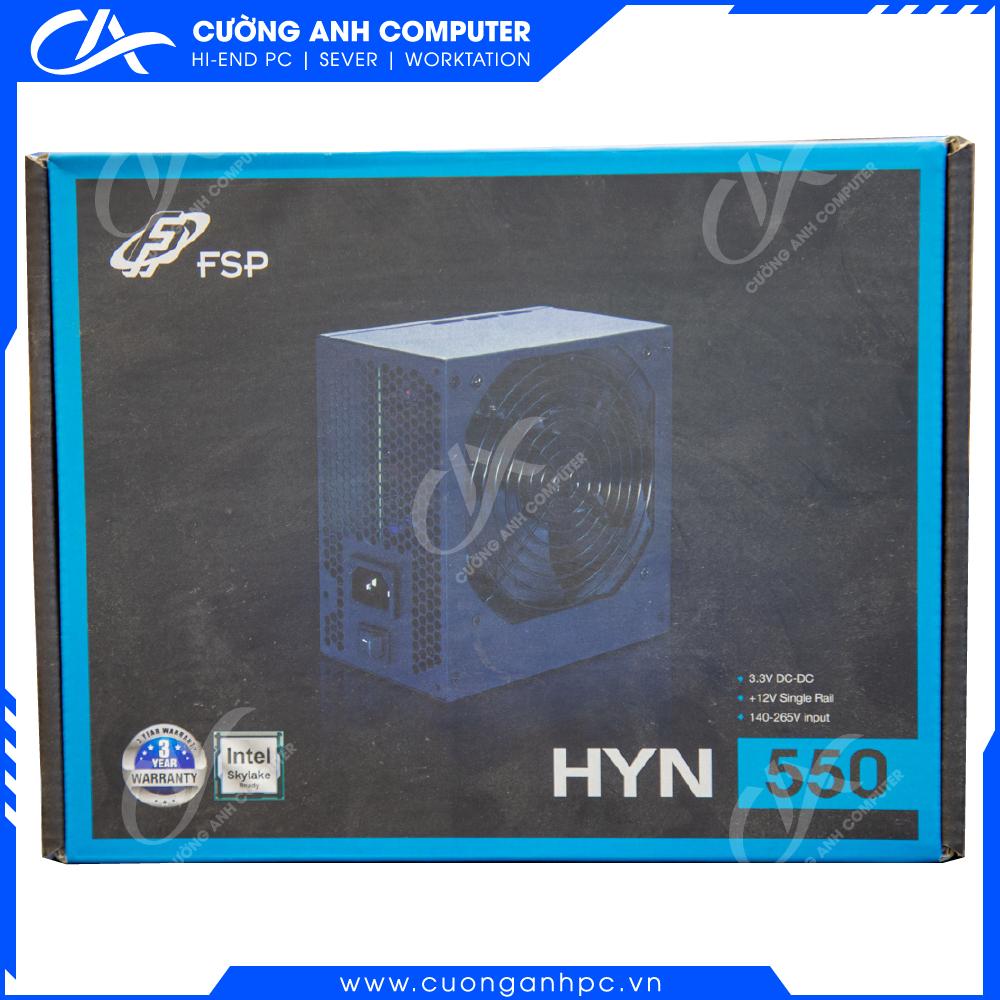 Nguồn FSP Power Supply HYN Series HYN550ATX  Active PFC (Màu Đen)