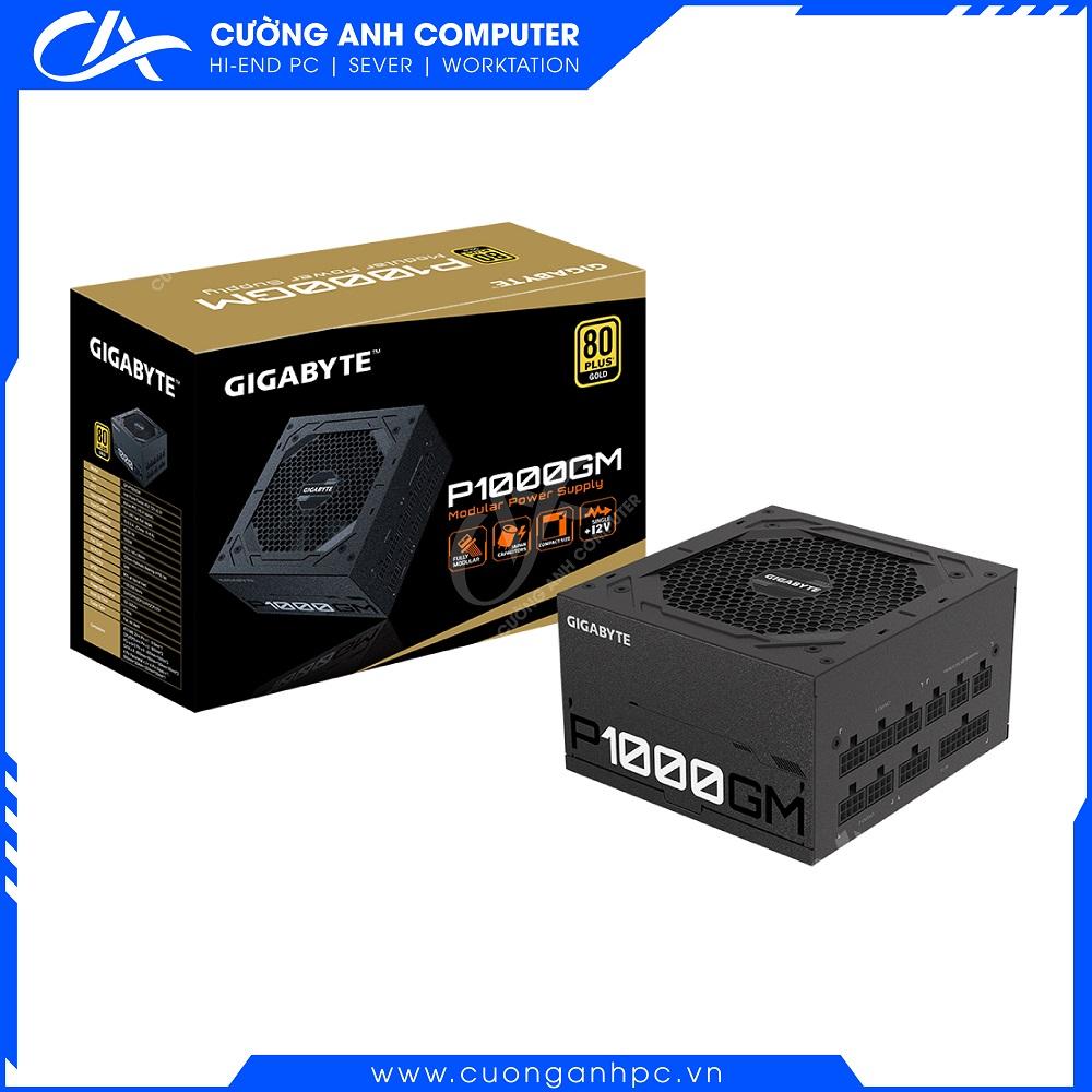 Nguồn GIGABYTE GP-P1000GM 1000w (80 Plus Gold/Full Modular/ Màu Đen)