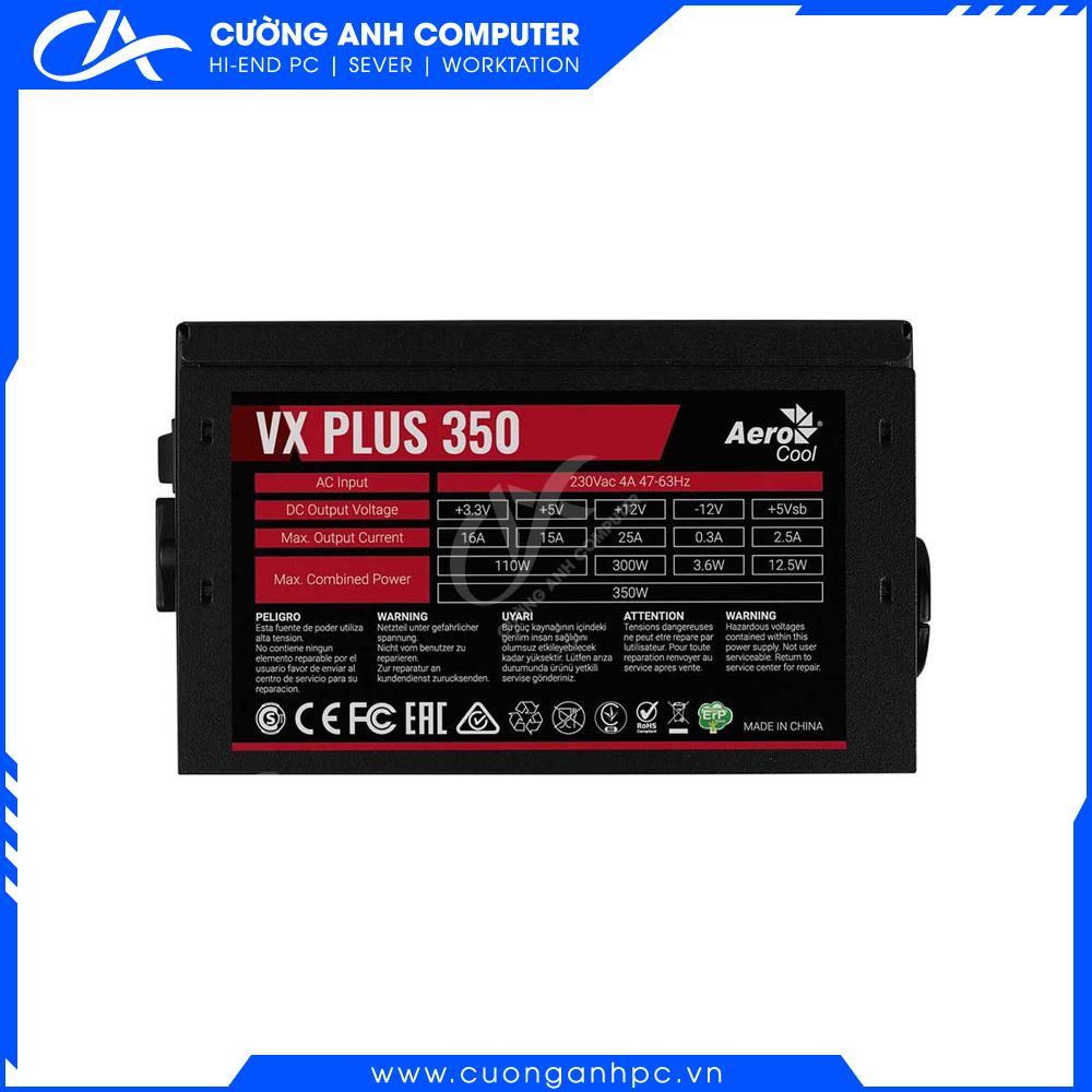 Nguồn máy tính Aerocool VX Plus 350 - 350W