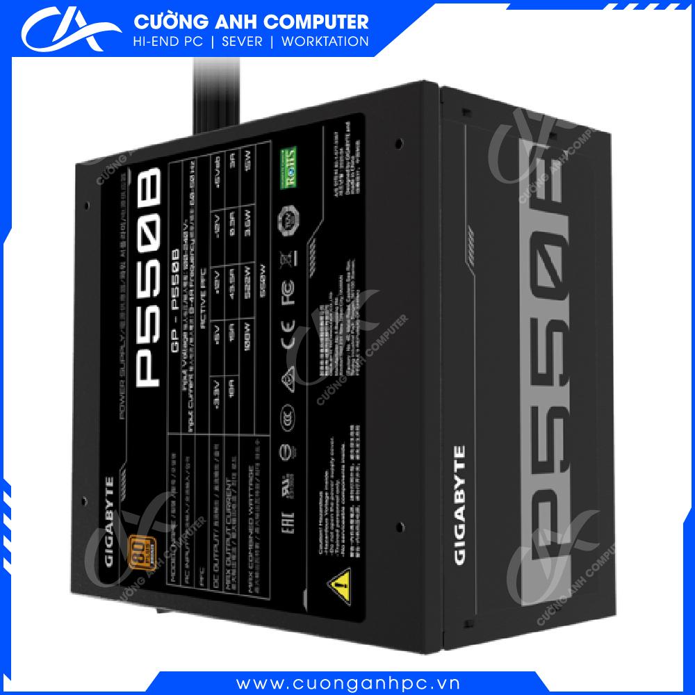 Nguồn máy tính GIGABYTE GP-P550B- 550W (80 PLus Bronze/Màu Đen)