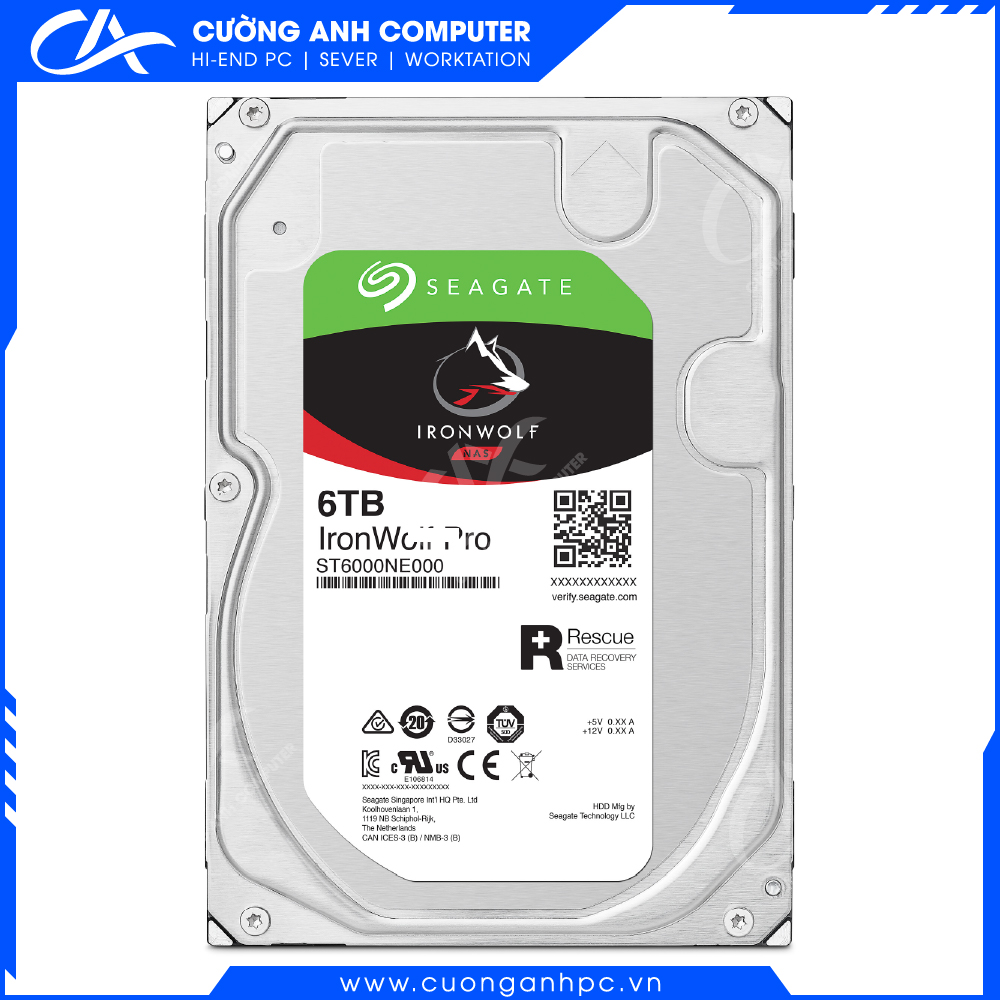 Ổ cứng HDD Seagate IronWolf 6TB NAS 5400rpm 256MB Cache 3.5'' (ST6000VN001)