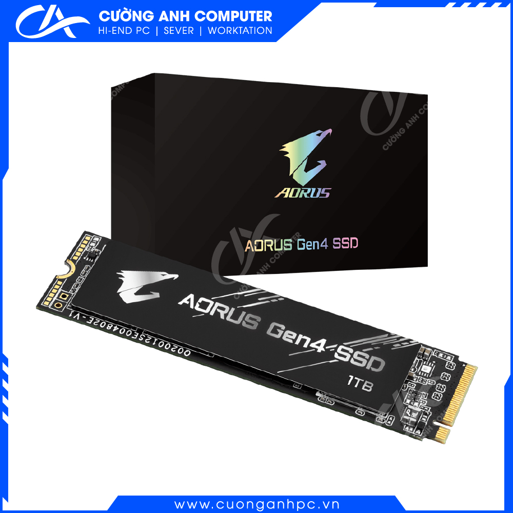 Ổ cứng SSD Gigabyte AORUS 1 TB Gen4 Without Heatsink (GP-AG41TB)