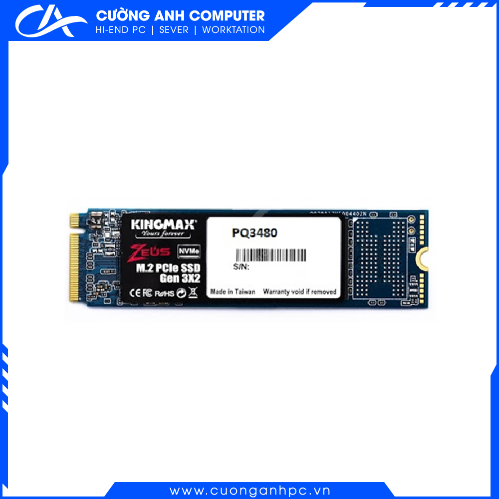 Ổ cứng SSD KINGMAX Zeus 512GB PQ3480 NVMe M.2 2280 PCIe Gen 3.0 x4