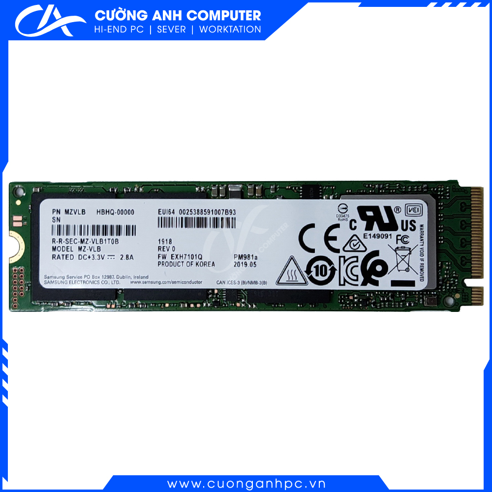 Ổ Cứng SSD M2-PCIe 1TB Samsung PM981A NVMe 2280