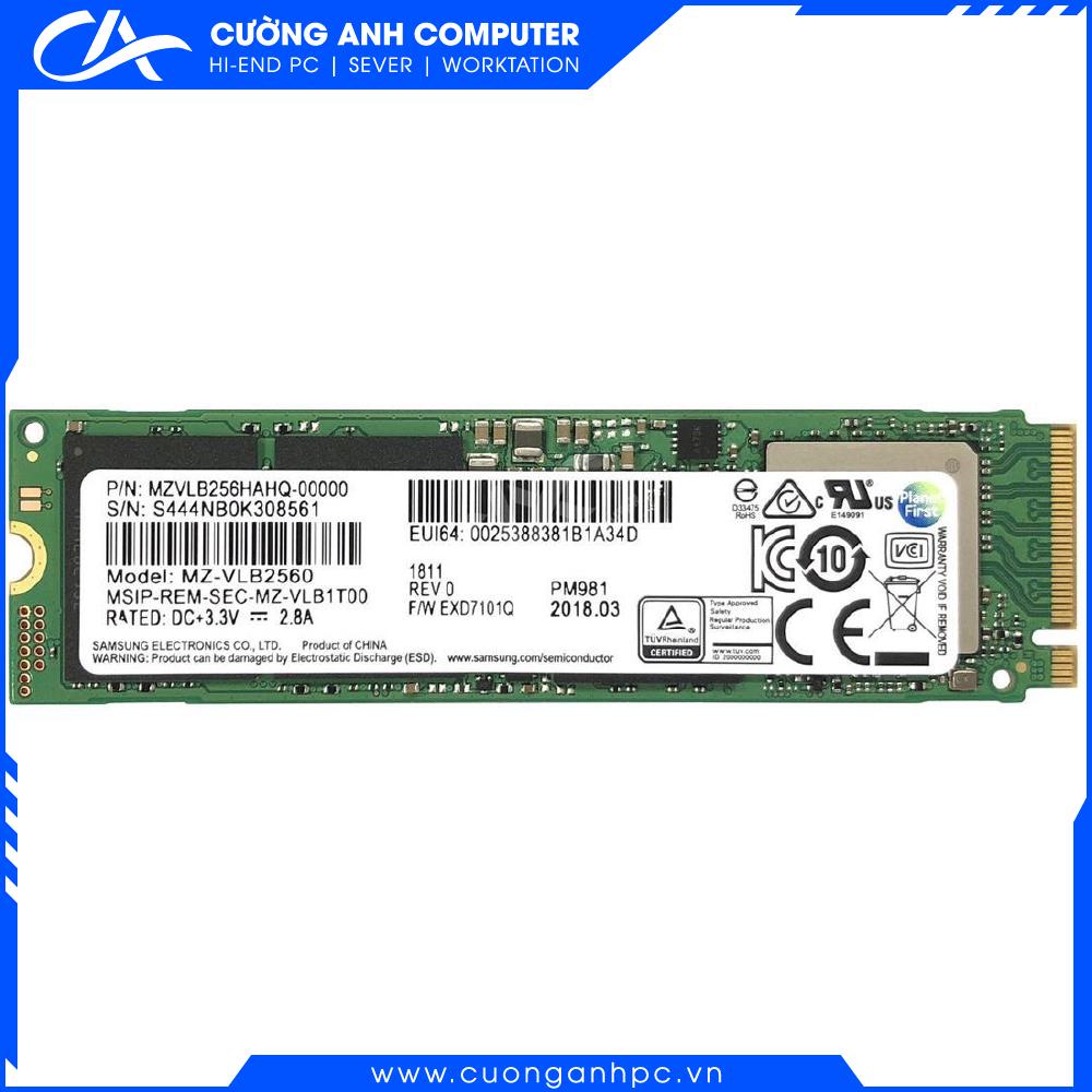 Ổ cứng SSD M2-PCIe 256GB Samsung PM981 NVMe 2280