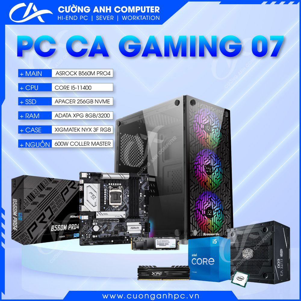 PC CA Gaming 07 i5 11400 / 8GB RAM / 256GB SSD NVMe