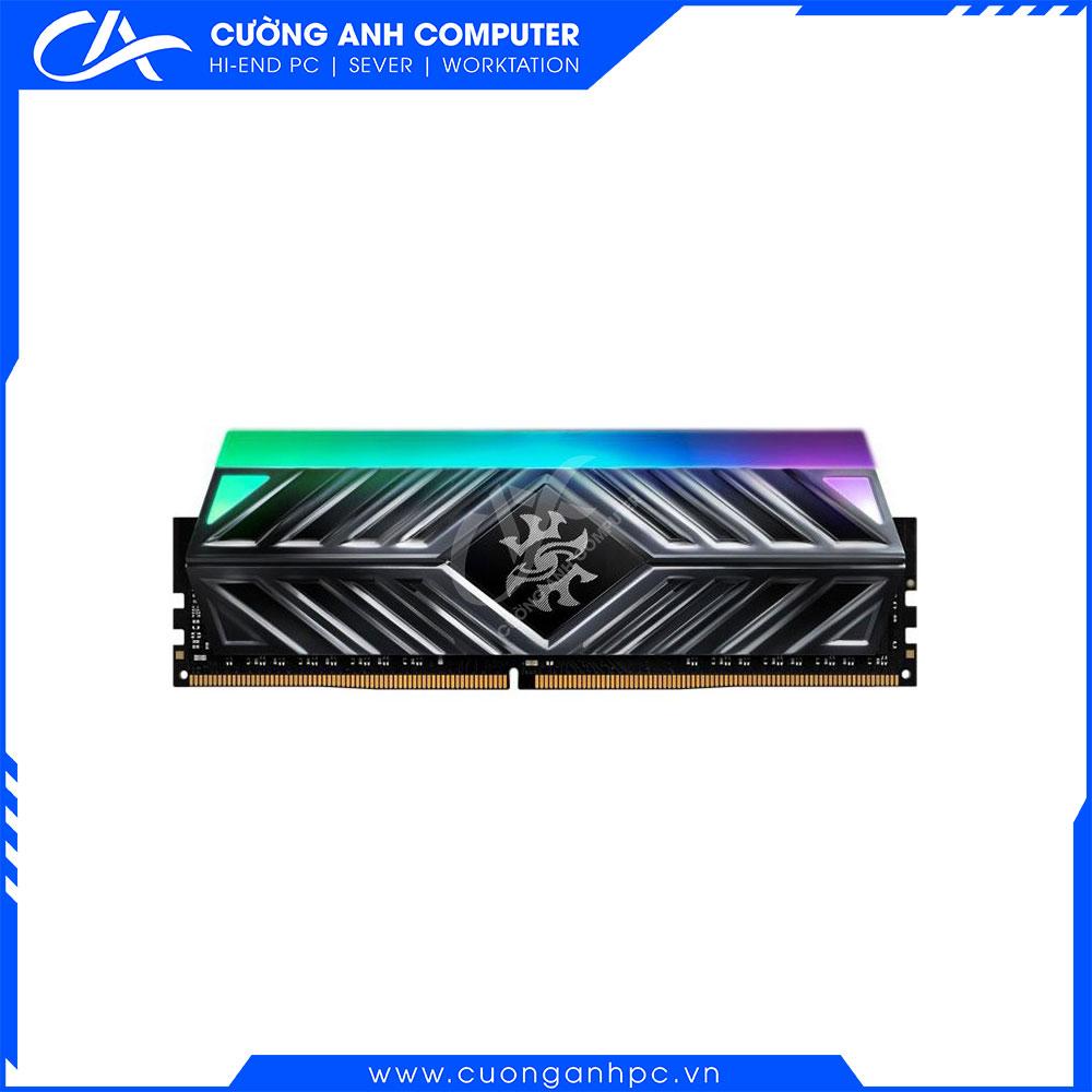 Ram PC ADATA SPECTRIX D41 RGB 8GB (1x8GB) DDR4 3200Mhz (Đỏ hoặc Xám)