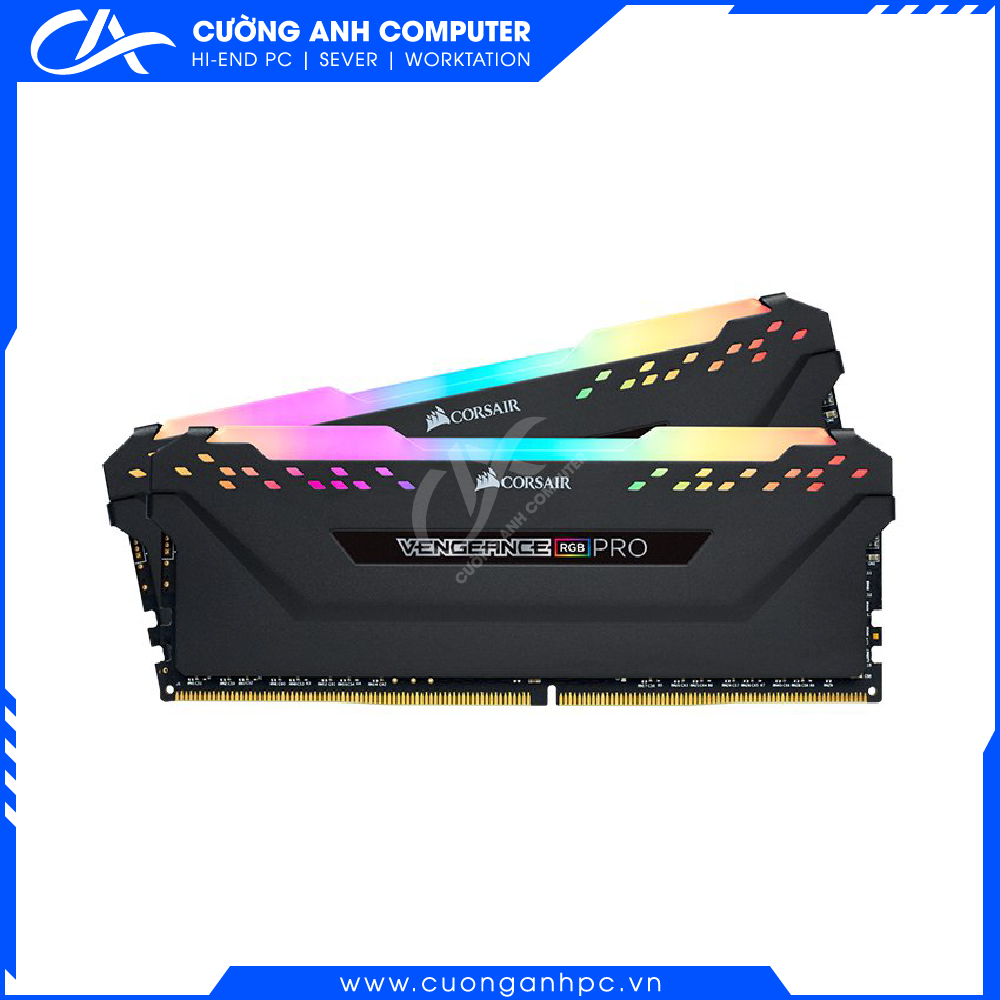 Ram PC Corsair Vengeance RGB Pro 32GB (2x16GB) DDR4 3200MHz Black