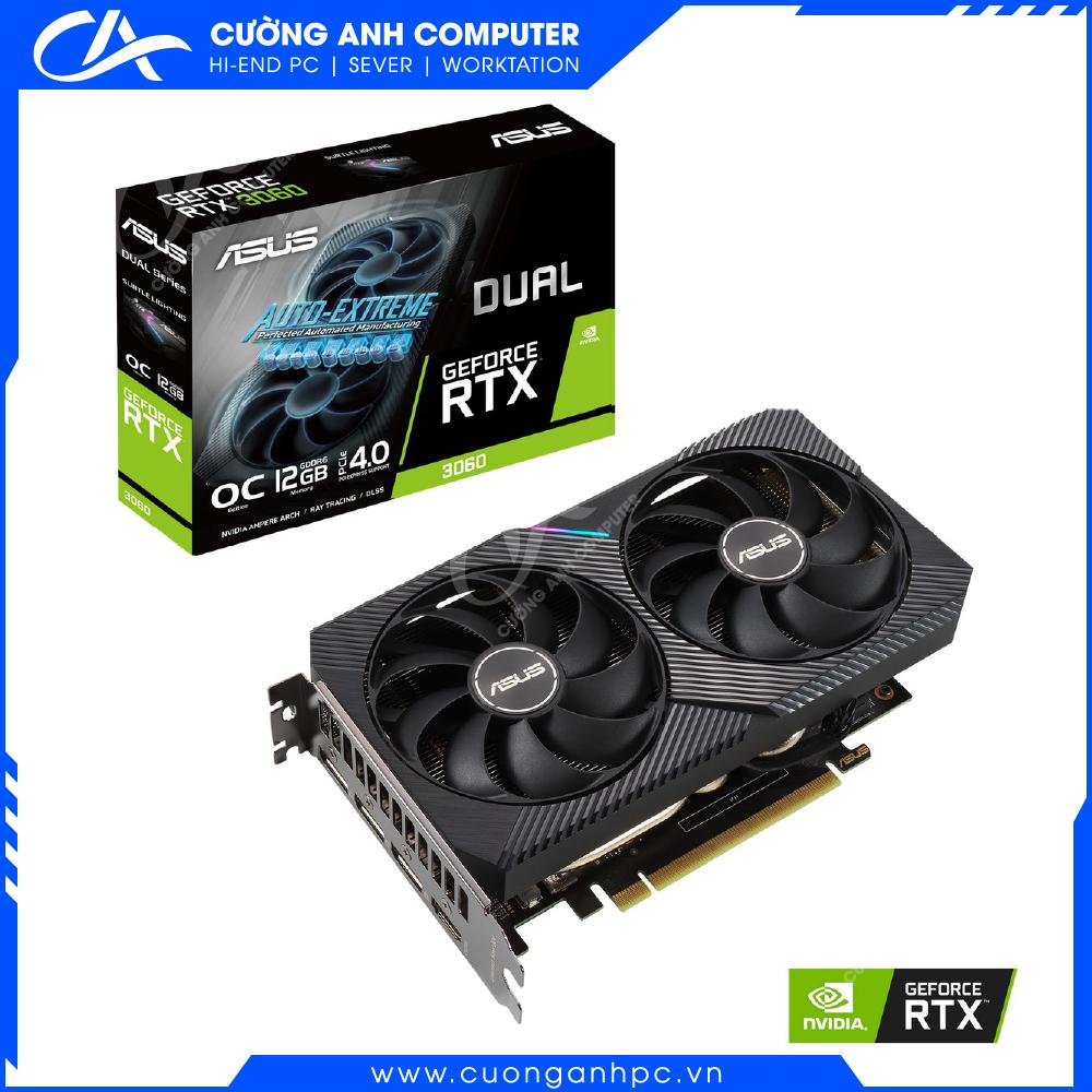 VGA ASUS DUAL GeForce RTX 3060 O12GB Gaming