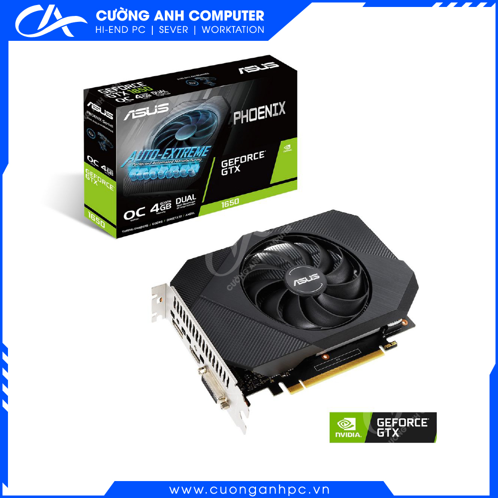 VGA ASUS Phoenix GeForce GTX 1650 4GB GDDR6 (PH-GTX1650-4GD6)