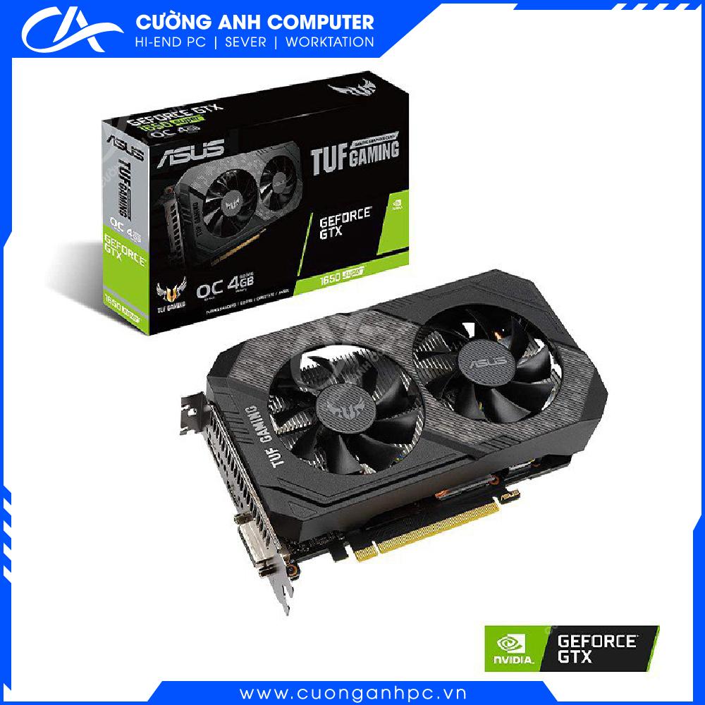 VGA ASUS TUF Gaming GeForce GTX 1650 SUPER 4GB GDDR6 OC edition (TUF-GTX1650S-O4G-GAMING)