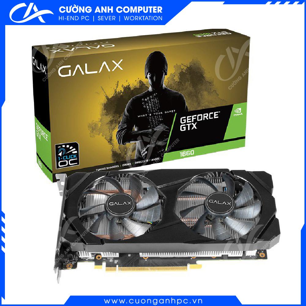 VGA Galax GTX 1660 6G (1 Click OC) (NVIDIA Geforce/ 6Gb/ DDR5/ 192Bit)