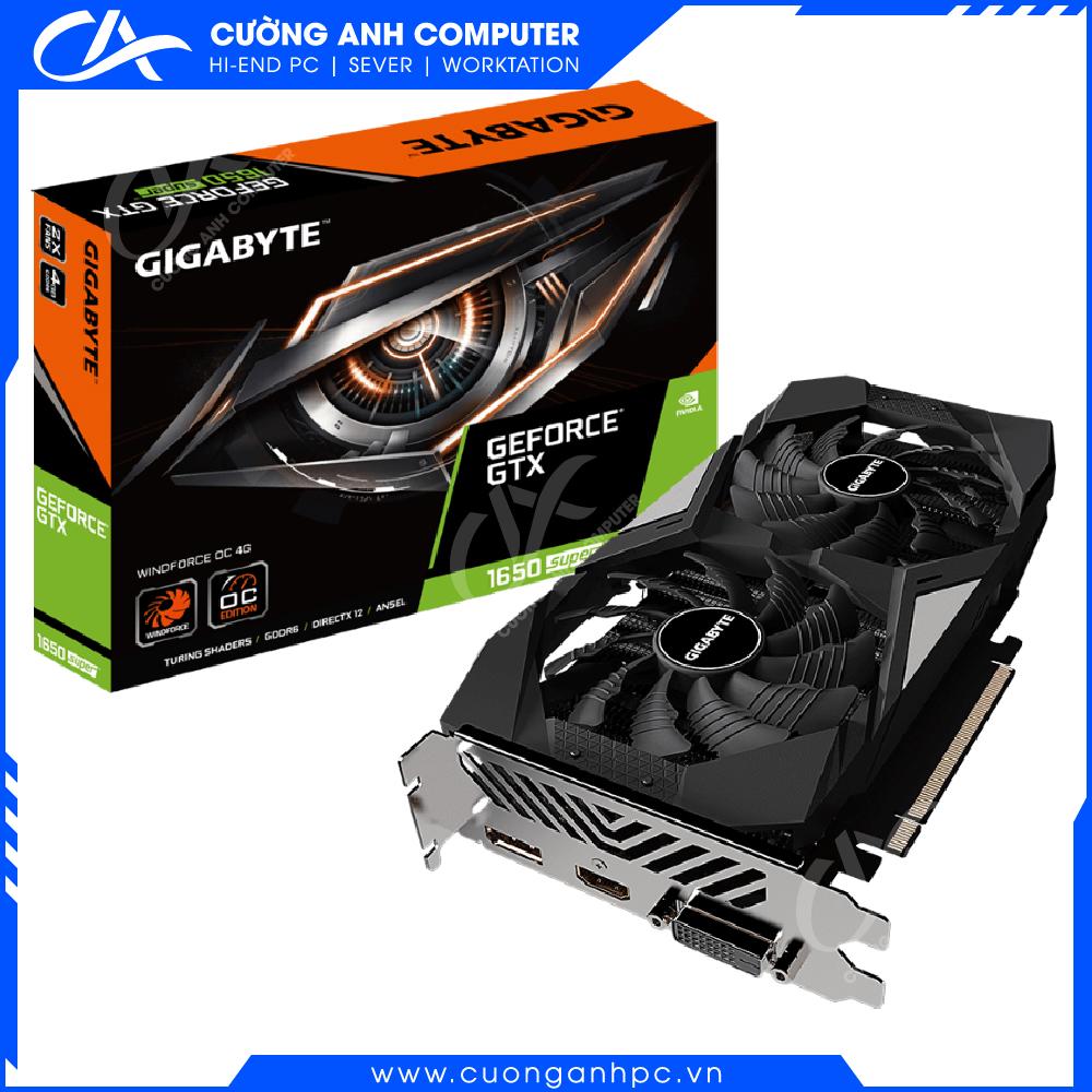 VGA GIGABYTE GeForce GTX 1650 SUPER WINDFORCE OC 4G (GV-N165SWF2OC-4GD)