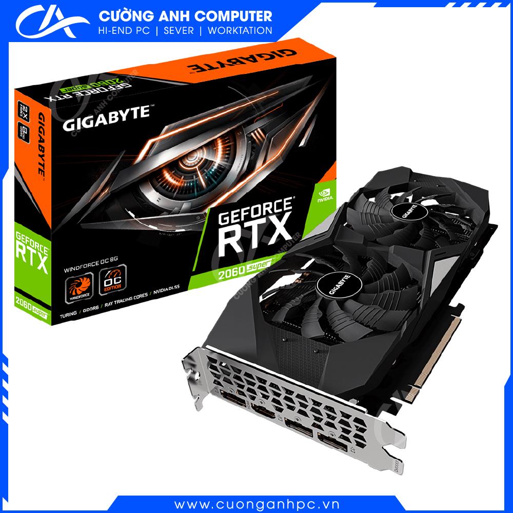 VGA GIGABYTE GeForce RTX 2060 SUPER WINDFORCE OC 8G (GV-N206SWF2OC-8GD)