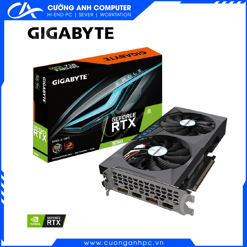 VGA GIGABYTE GeForce RTX 3060 EAGLE 12G (V-N3060EAGLE-12GD)