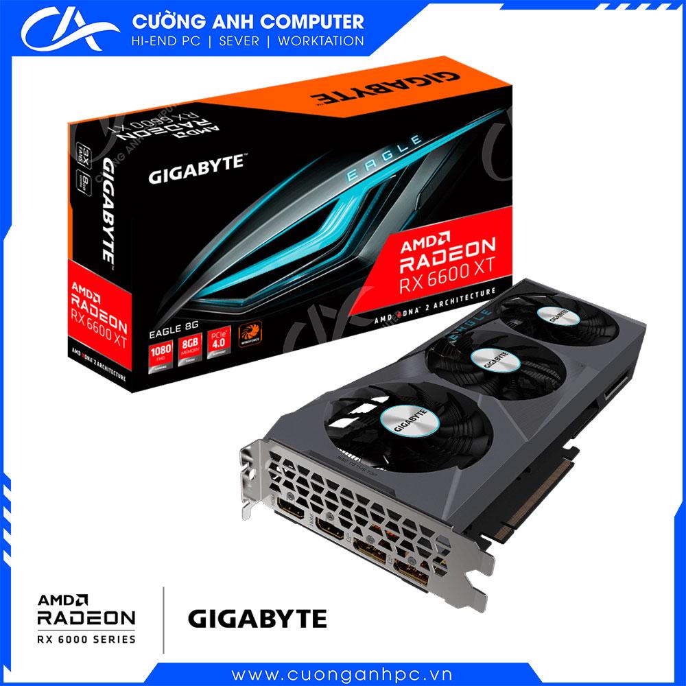 VGA GIGABYTE Radeon RX 6600 XT EAGLE 8G (GV-R66XTEAGLE-8GD)