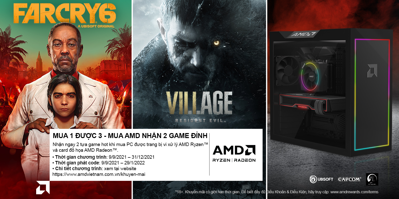 MUA 01 ĐƯỢC 03 - MUA AMD NHẬN 02 GAME ĐỈNH