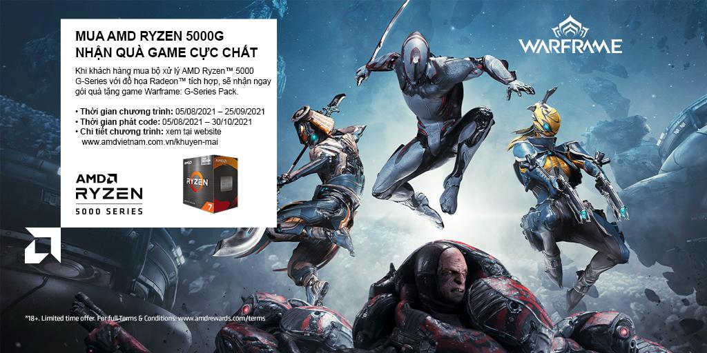 MUA AMD RYZEN 5000G - NHẬN QUÀ GAME CỰC CHẤT 08/2021